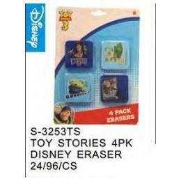 48 Bulk Toy Story 4pack Eraser