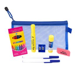 48 Units of 8 Piece Wholesale Kids School Supply Kit - School and Office Supply Gear