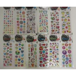 """144 Units of 3""""x6.25"""" Puffy Sticker Sheets - Tattoos and Stickers"""