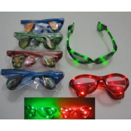 240 Units of Light Up GlasseS-Assorted Prints - Novelty & Party Sunglasses