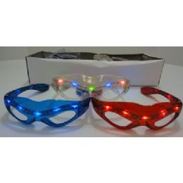 240 Units of Light Up GlasseS-Spider - Novelty & Party Sunglasses