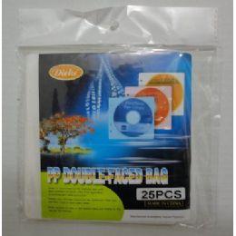 48 Bulk 25pc DoublE-Faced Bag For Cd/dvd