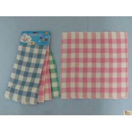 36 Units of 3 Pack Dish Cloth-Gingham - Kitchen Towels
