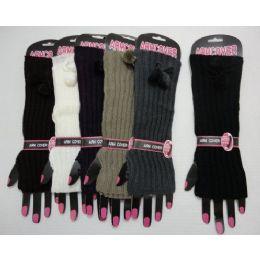 36 Units of Arm WarmerS-Tie With Pompom - Arm & Leg Warmers