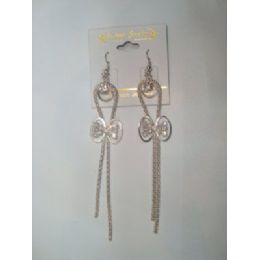 72 Units of EarringS-Dangle With Bow Tie Charm - Earrings