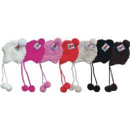48 Units of Ladies Hand Made Winter Knit Hat - Winter Helmet Hats