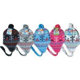 96 Units of Fleeced Lined Winter Hat - Winter Helmet Hats