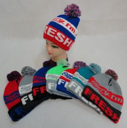 48 Units of Knit Hat with PomPom Sorry I'm Fresh - Winter Sets Scarves , Hats & Gloves