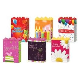 "144 Units of Happy Birthday 6 Asst. Jumbo 13"" X 18"" X 4"" - Gift Bags Assorted"