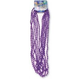 """120 Units of Festive Beads - 33"""" Purple - 6 ct - Party Favors"""
