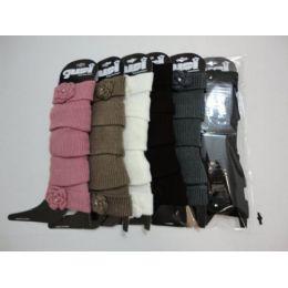 120 Units of Leg WarmerS--Knit Flower - Arm & Leg Warmers