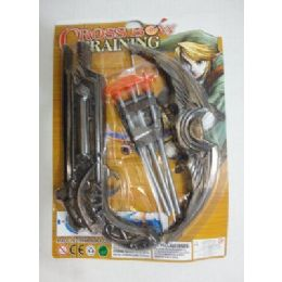 96 Units of 10 Inch Toy Crossbow With 3 Arrows - Darts & Archery Sets