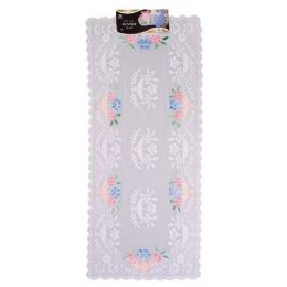 """144 Units of 16""""x36"""" Airbrushed Lace Runner - Table Runner"""