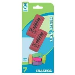 48 Wholesale Pink EraseR-Cap Eraser Combo 7 ct