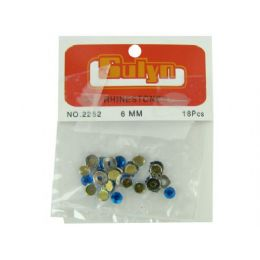 144 of 18 Pc 6mm Blue Rhinestones With Mounts