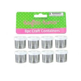 72 Units of Small Craft Containers 8 Pack - Craft Container and Storage
