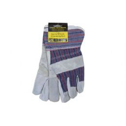 36 Units of Leather Work Gloves, MultI-Use, 2 Pack - Hardware Products