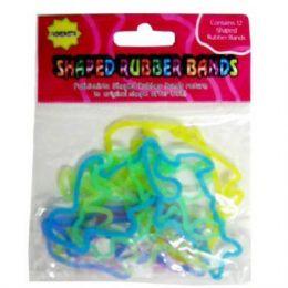 144 Bulk Glow In The Darkscented Glitterrubber Fun Band