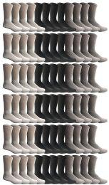 72 Units of Yacht & Smith Women's Sports Crew Socks, Size 9-11, Assorted - Womens Crew Sock