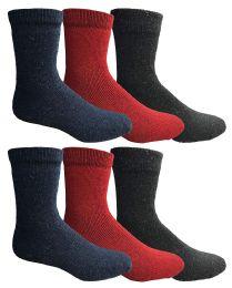 6 Bulk Yacht & Smith Womens Winter Thermal Crew Socks Size 9-11