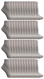 48 Units of Yacht & Smith Kids Cotton Quarter Ankle Socks In Gray Size 6-8 - Boys Ankle Sock