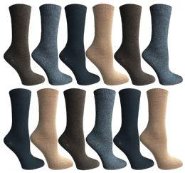12 of Socksnbulk Womens Dress Crew Socks, Bulk Pack Assorted Chic Socks Size 9-11
