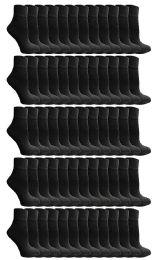 120 Units of Yacht & Smith Men's Cotton Quarter Ankle Sport Socks Size 10-13 Solid Black - Mens Ankle Sock