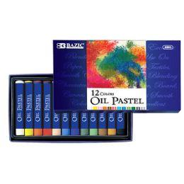 12 Units of 12 Color Oil Pastels - Art Paints