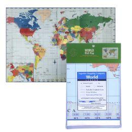 24 Bulk Folded World Map
