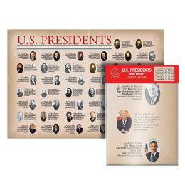 24 Bulk Folded U.s. Presidents Wall Map