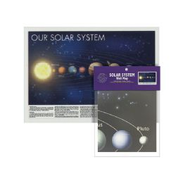 24 Bulk Folded Solar System Wall Map