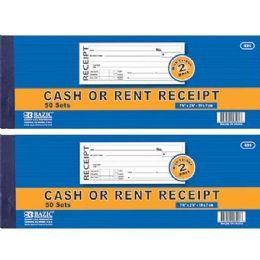 24 Units of 50 Sets 2-Part Cash Or Rent Receipt W/ Carbon - Sales Order Book