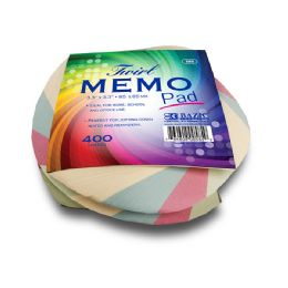 36 Units of 85 Mm X 85 Mm 400 Ct. Twirl Memo Pad - Memo Holders and Magnets