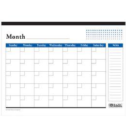 48 Bulk Undated 12-Months Desk Pad Calendar
