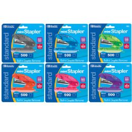24 Units of Mini Standard (26/6) Stapler W/ 500 Ct. Staples - Staples and Staplers