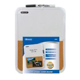 "12 Wholesale 8.5"" X 11"" Dry Erase / Cork Combo Board W/ Marker"