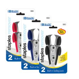12 Units of Claw Style Staples Remover W/ Safety Lock (2/pack) - Staples and Staplers