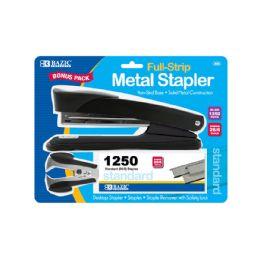 12 Units of Metal Full Strip Stapler Set - Staples and Staplers
