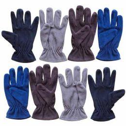 60 of 9.5 Mens Assorted Fleece Glove 4 Colors