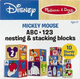 4 Wholesale Melissa & Doug Mickey Mouse & Friends Nesting & Stacking Blocks Baby Toy