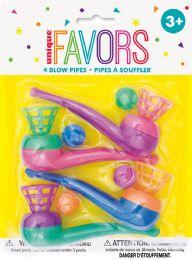 12 Wholesale 4 Blow Pipes Favors