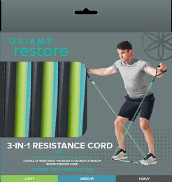 6 Units of Gaiam Restore 3-IN-1 Resistance Band Kit - Sporting and Outdoors