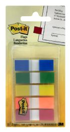 12 Wholesale 3m PosT-It Flags, Assorted Primary Colors, .47 In. Wide, 100/oN-ThE-Go Dispenser