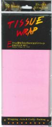 24 Wholesale Tissue Paper Pink 10 Sheets