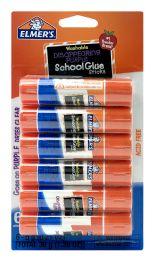 12 Units of Elmer's Washable School Glue Sticks Disappearing Purple 6 ct - Glue