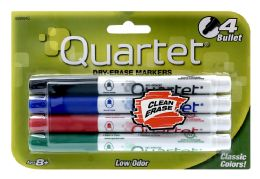 6 Wholesale Quartet Low Odor Bullet Tip DrY-Erase Markers