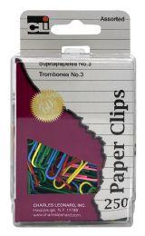 6 Bulk Cli 250 Paper Clips Assorted