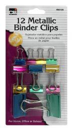 8 Units of Cli Metallic Binder Clips - Binders
