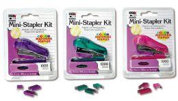 6 Bulk Stapler Mini W/staples Asst