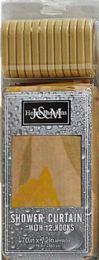 6 Bulk Shower Curtain Jm 2 Pc Set